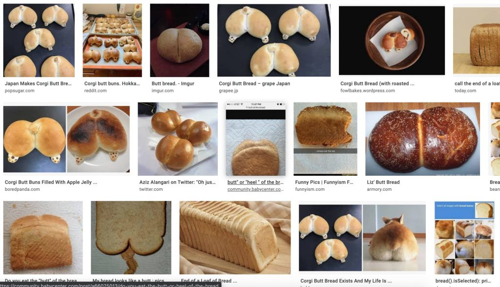Collage of butt bread